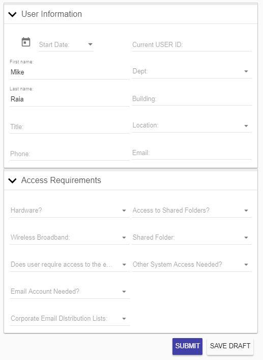 It User Access Request  Integrify